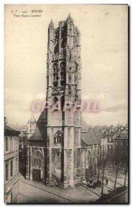 Old Postcard Tour Rouen Saint Laurent