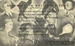Hollywoods Mad Hatter, Tom Breneman Radio Station Personality Unused