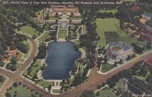 Ohio Cleveland Aerial View Of Fine Arts Gardens Showing Art Museum And Severa...