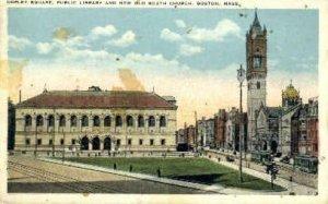 Copley Square, Public Library - Boston, Massachusetts MA