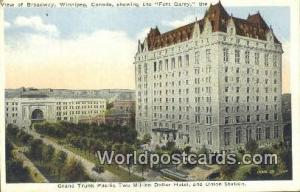 Winnipeg Canada, du Canada Grand Trunk Pacific Two Million Dollar Hotel, & Un...