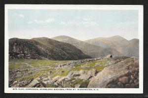 Mts Clay Jefferson Adams & Madison New Hampshire Unused c1920s