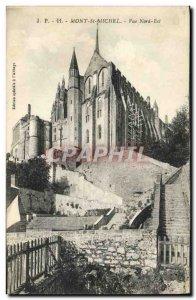 Old Postcard Mont Saint Michel View North East