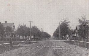 Ohio Spencerville Main Street Looking North From First 1907 sk7098
