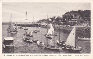 Massachusetts Rockport A Corner Of The Harbor And The Atlantic Avenue Shore T...