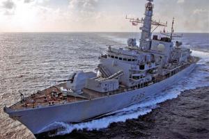 Postcard Royal Navy Type 23 Frigate HMS Monmouth, English Channel 2011 63L