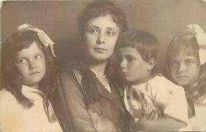 Postcard 1920 family photo