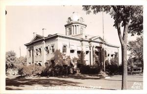 Caldwell Idaho~Court House~1940s Postcard RPPC
