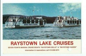 Postcard Raystown Lake Cruises VPCO1.