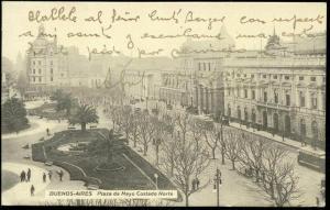 argentina, BUENOS AIRES, Plaza Mayo Costado Norte, Trams (1920s)