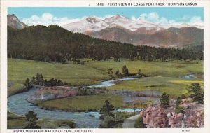 First View Of Longs Peak From Thompson Canon Rocky Mountain National Park Col...