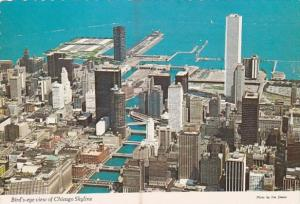 Illinois Chicago Birds Eye View Of Chicago Skyline