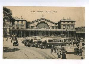 233031 FRANCE PARIS East Railway Station Mercedes buses OLD PC