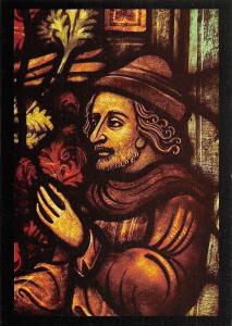 Seth (Detail aus dem Heilig-Kreuz-Fenster) Mariendom Erfurt Gotische Bildfenster