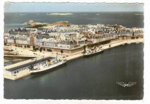 RP  Saint Malo, France 40-50s Ocean Liners at Quai