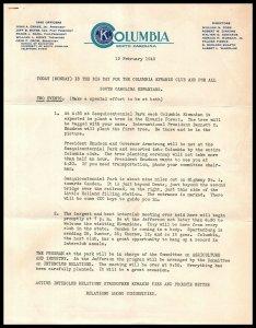 1940 Letterhead - Kiwanis International of Columbia, South Carolina A2