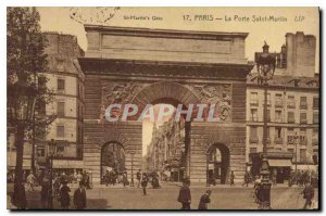 Old Postcard Paris La Porte Saint-Martin