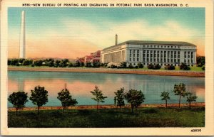 Washington DC New Bureau of Printing,  Engraving  Potomac Park Vintage Postcard
