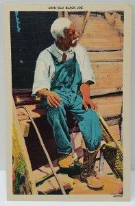 Linen Postcard Old Black Joe Linen Postcard N11