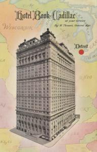 DETROIT, Michigan , 1940-50s ; Hotel Book-Cadillac