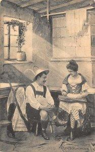 Fec Ch Scolik Wien Woman Musician Postcard