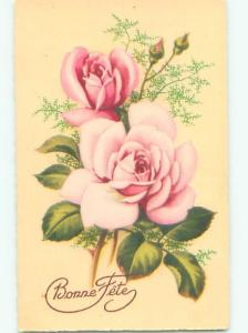 Very Old Foreign Postcard BEAUTIFUL FLOWERS SCENE AA4978