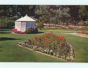 Unused Pre-1980 FLOWER BEDS & PARK SCENE Anaconda Montana MT r8548