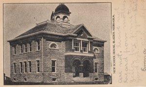 BLADEN , Nebraska , 1907 ; New School House