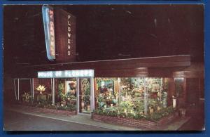 McDaniels Flowers Atlantic Iowa ia Advertising chrome Postcard