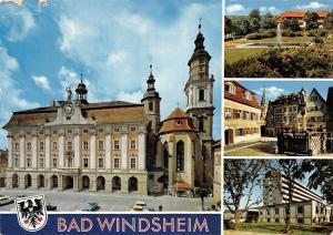 Bad Windsheim Rathaus Town Hall Auto Cars Park Brunnen Statue