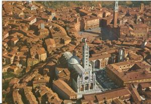 Italy, SIENA, Veduta aerea, Air view, 1960s unused Postcard
