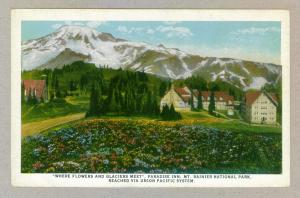 Paradise Inn, Mt. Rainier National Park, Union Pacific Railroad, unused Postcard