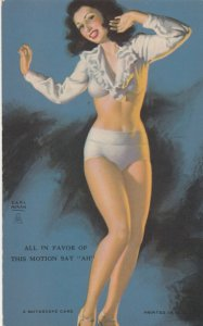 Pin-up All in favor of this motion , say ah , 1930s