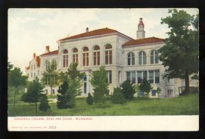Milwaukee, Wisconsin/WI Postcard, Concordia College, 32nd & Cedar