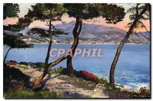 Old Postcard Menton taking view of Cap Martin