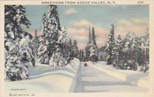 New York Keene Valley Greetings From Keene Valley
