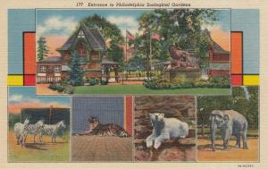 PHILADELPHIA , Pennsylvania, 30-40s; Entrance to Philadelphia Zoological Gardens