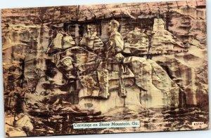 postcard Georgia - Carving on Stone Mountain