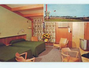 Unused Pre-1980 MOTEL SCENE Glens Falls - Lake George New York NY HJ9422