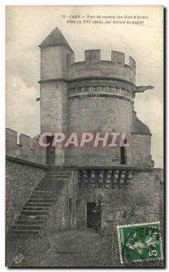 Postcard Old Gena of Caen mansion Tower & # 39Armes Gerard Nolent