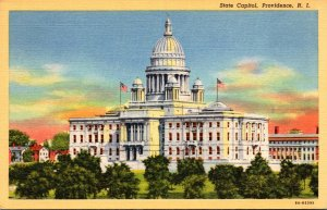 Rhode Island Providence State Capitol Building 1940 Curteich