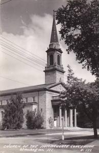 Illinois Waukegan Church Of The Immaculate Conception Real Photo