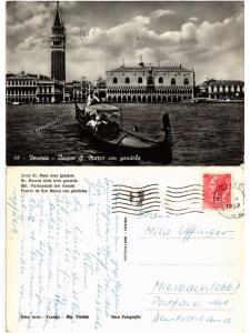 CPA Venezia. Bacino S. Marco con gondola. ITALY (521485)