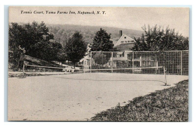 Postcard Tennis Court, Yama Farms Inn, Napanoch NY I52