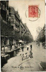 CPA AK BUENOS AIRES Avenida de Mayo ARGENTINA (787361)