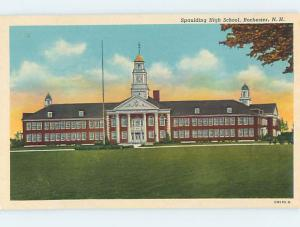 Unused Pre-1980 HIGH SCHOOL Rochester New Hampshire NH L9747