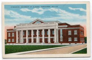 Gymnasium University Alabama Tuscaloosa AL 1930s postcard