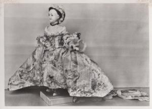 1758 Medieval Stuffed Toy Wax Doll Ladies Coat Robe RPC London Museum Postcard