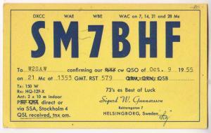 SM7BHF, Sweden, 1955