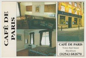 Lancashire; Blackburn, Cafe De Paris, Town Hall St, PPC, Unused, 80's - 90's